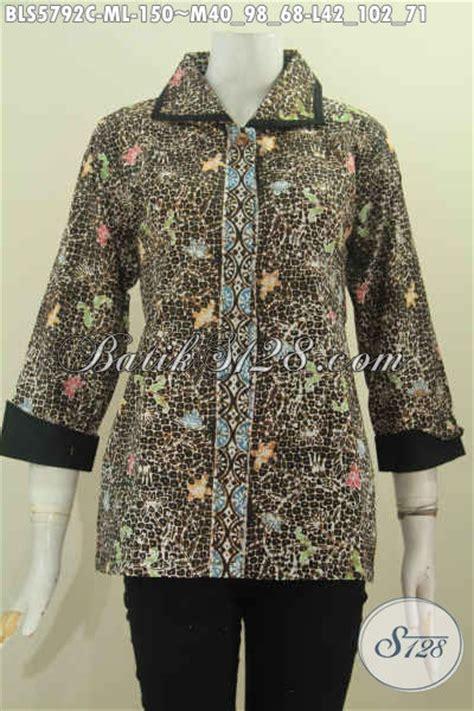 Baju Batik Modern Wanita Murah Blouse Batik Cewek Top baju batik murah cocok untuk seragam kerja model