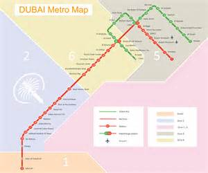 Metro Rail Schedule Map Dubai