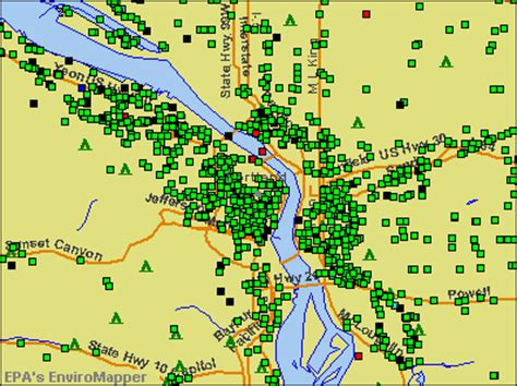 radon map portland oregon portland metro zip code map