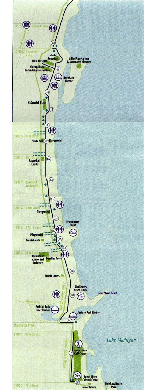 map of chicago lakefront great runs in chicago great runs medium