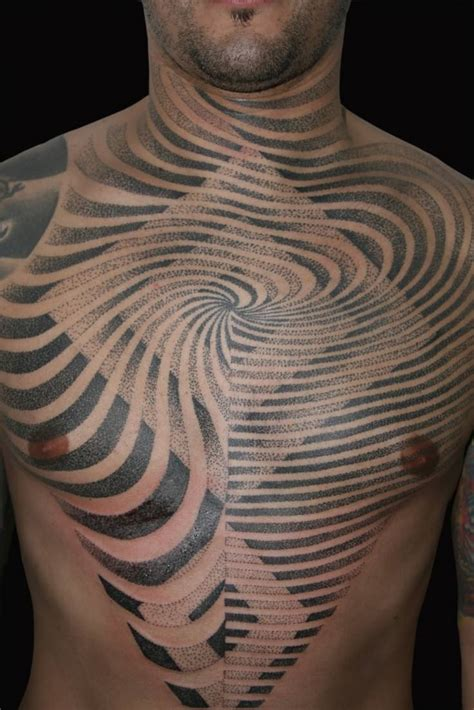 dot tattoo flowing lines and sharp edges converge in this sacred