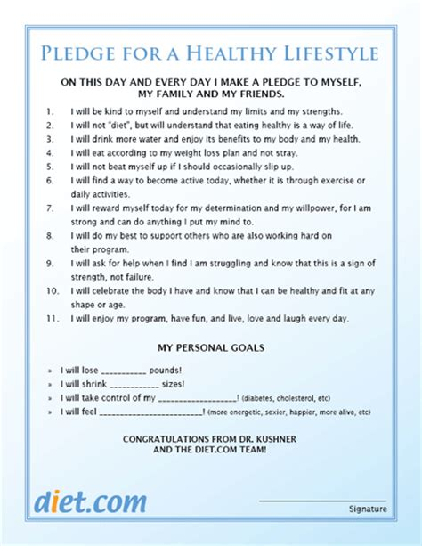 Commitment Letter To Lose Weight Healthy Lifestyle Pledge