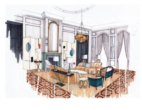 sketch interior design interior design drawing room by abbie de bunsen