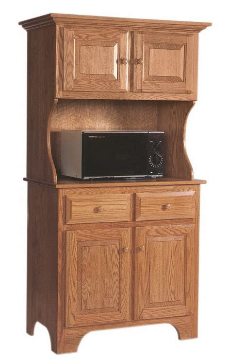 Microwave Stand With Storage : Simple Kitchen with