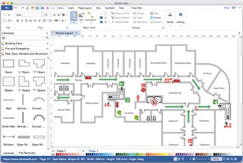 visio floor plans floor plan visio alternative for mac
