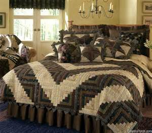 Lodge Style Curtains Barn Raising Log Cabin Quilt