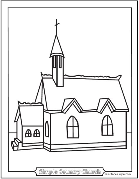 9 Church Coloring Pages From Simple To Ornate Coloring Pages For Church
