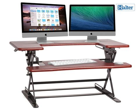 standing desk dual monitor best adjustable standing desk converters for dual monitors