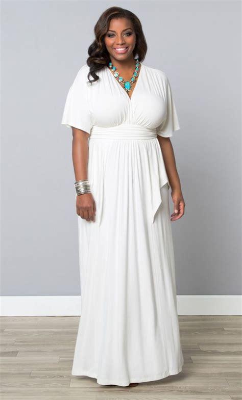 Maxi Dress Tha 4643 plus size flair maxi dress white plussizewedding plussizebride feel like a