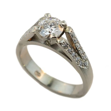 18ct white gold brilliant ring cameron