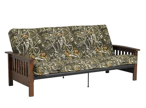 camo futon cover dhp furniture real tree futon mattress