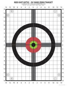 Printable Targets For Zeroing In A Gun » Home Design 2017