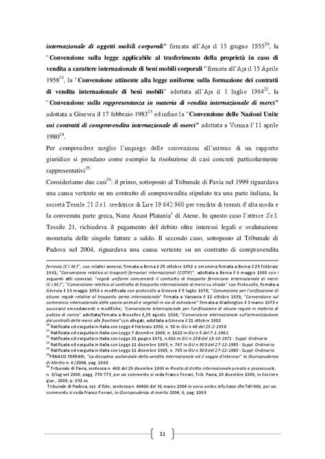 contratto vendita beni mobili la disciplina internazionale contratto di