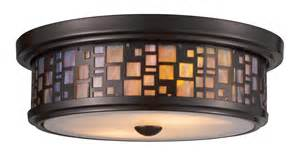 Flush Mount Kitchen Light Fixtures Elk Lighting 70027 2 Flushes Flush Mount Ceiling Fixture