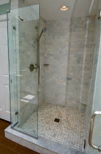 bathroom tiled showers ideas marble subway tile shower offering the sense of elegance homesfeed
