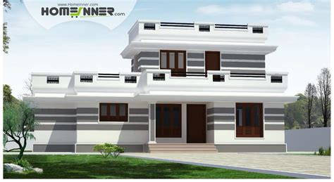 4 home design store flat roof 4 bhk single floor low cost home plan