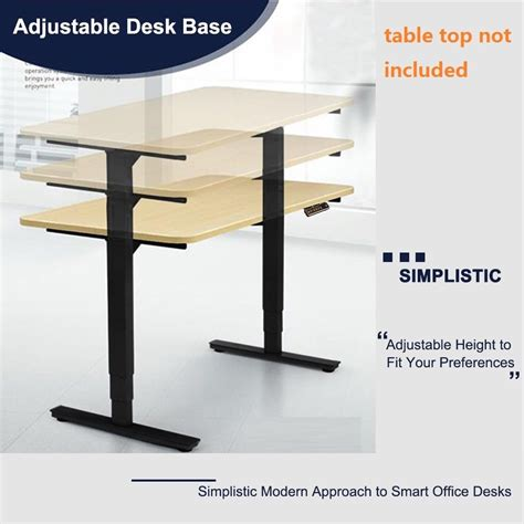 Electric Height Adjustable Standing Desk Frame Base Sit Ergonomic Standing Desk Height