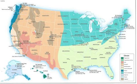 climate map of western united states regional climate zone planting map for the us tjs garden