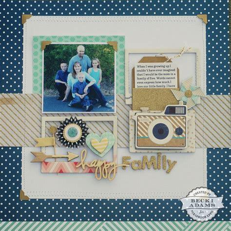 scrapbook layout process videos papercrafting scrapbook layout happy family layout by