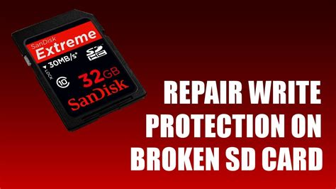 how to make sd card not write protected how to repair write protection on sd card