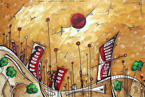 Garden City Arts Abstract Cityscape Original Painting The Garden City