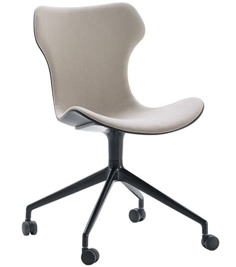 chair with wheels papilio shell b b italia upholstered chair with wheels