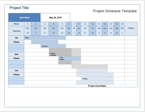 Project Schedule Template Microsoft Word Templates Word Schedule Template