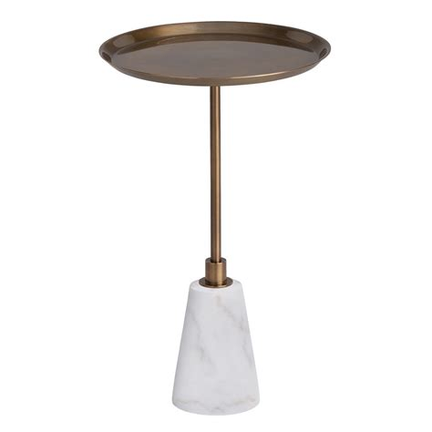 Marble Accent Table Arteriors Celeste Accent Table White Marble And Vintage Brass