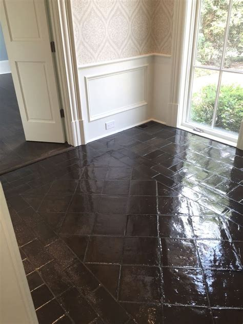 BEFORE AND AFTER STAINING SALTILLO TILE   Saltillo Tile