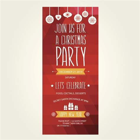 professionally printed christmas party invitations for