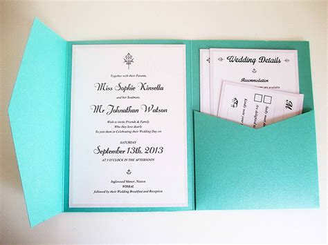 How To Make Wedding Invitations by How To Make Wedding Invitations Green Pocket Invitation