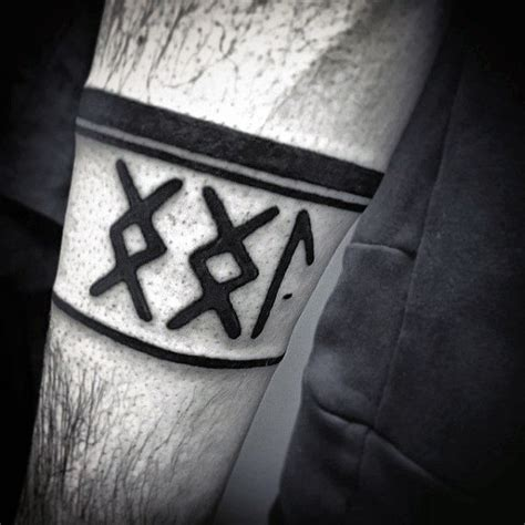 viking armband tattoo designs 80 rune tattoos for germanic lettering design ideas