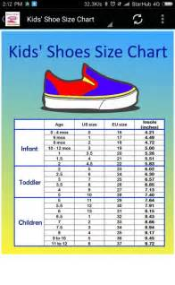 and shoe size chart converter android apps on