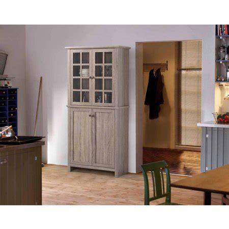 glass door cabinet walmart homestar 2 door glass storage cabinet reclaimed wood