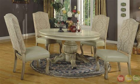 antique white dining room sets traditional round antique stye white formal dining set