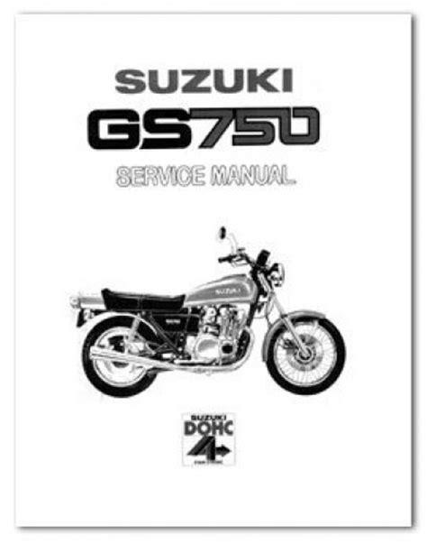 Suzuki Motorcycle Manual 1979 1982 Suzuki Gs750 8 Valve Motorcycle Service Manual