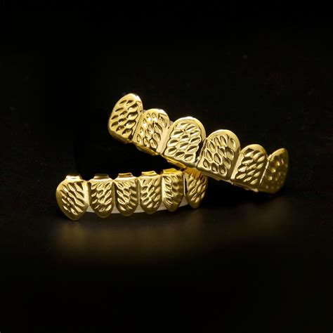 new real silver gold plated iced out hip hop teeth for