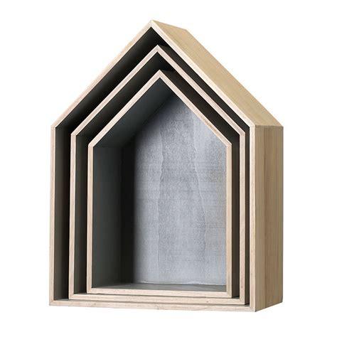 etagere bloomingville leo bloomingville house shadow boxes set of 3 grey