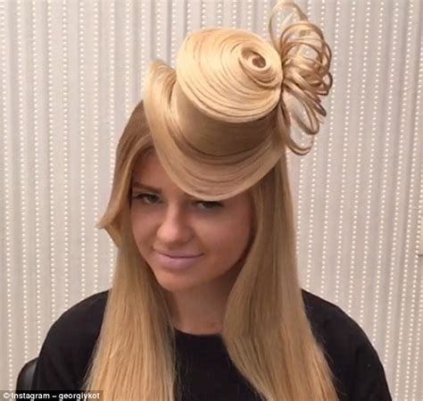 wedding hair up with hat georgy kot s top hat hairstyle becomes an instagram