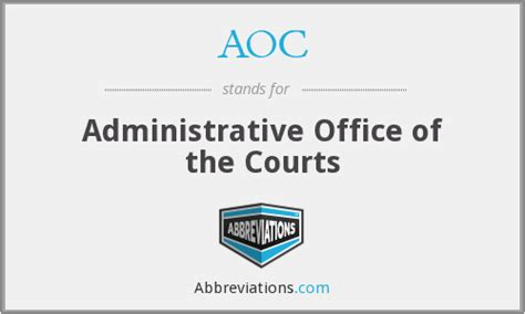 Administrative Office Of Us Courts by Aoc Administrative Office Of The Courts