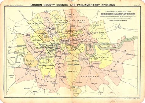 london county council and parliamentary divisions