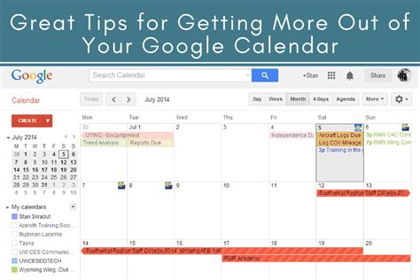Get More Out Of The Calendar With Resource Booking And Ical Support | great tips for getting more out of your google calendar