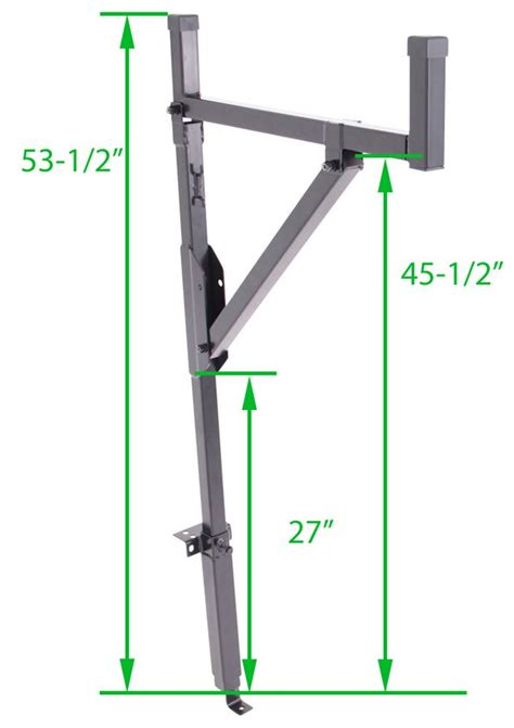 Side Ladder Rack by Tracrac Contractor Truck Bed Ladder Rack Side Mount