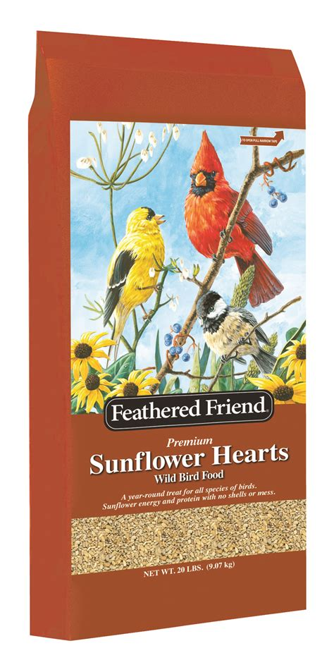 feathered friend sunflower hearts  lb