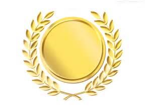 gold template gold laurel wreath medal template psd psdgraphics