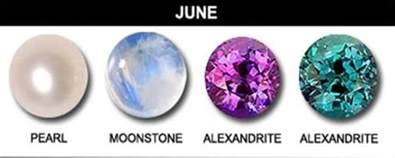 birth colors june birthstone trio healing properties uses