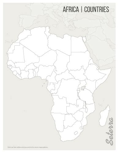 printable map africa countries africa countries printables map quiz game