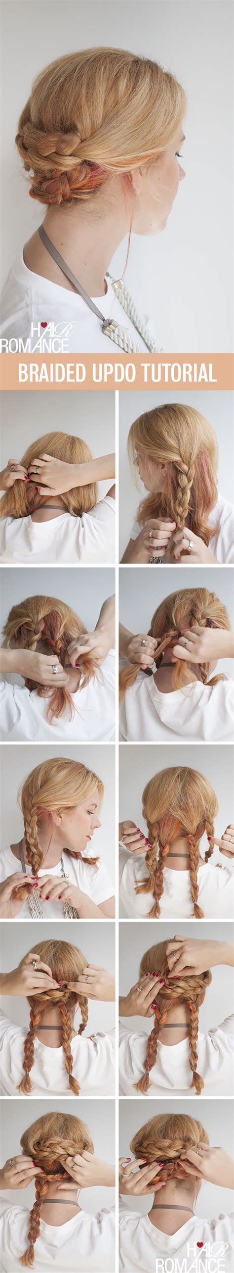 easy hairstyle tutorials for hair braided updo hair tutorial hair