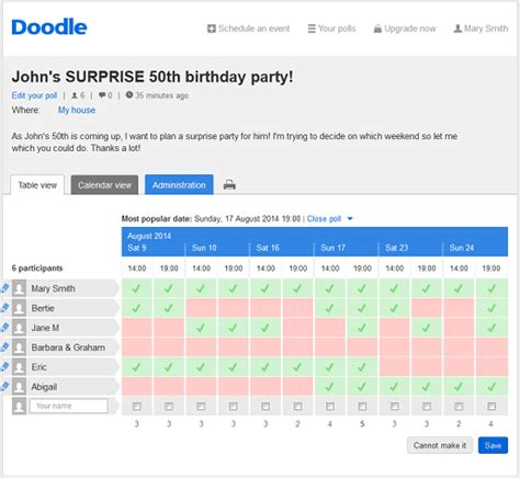 doodle calendar view create free polls in a matter of minutes with