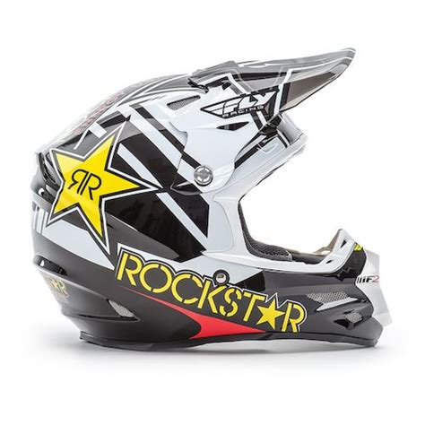 fly racing motocross gear fly racing f2 carbon rockstar helmet revzilla